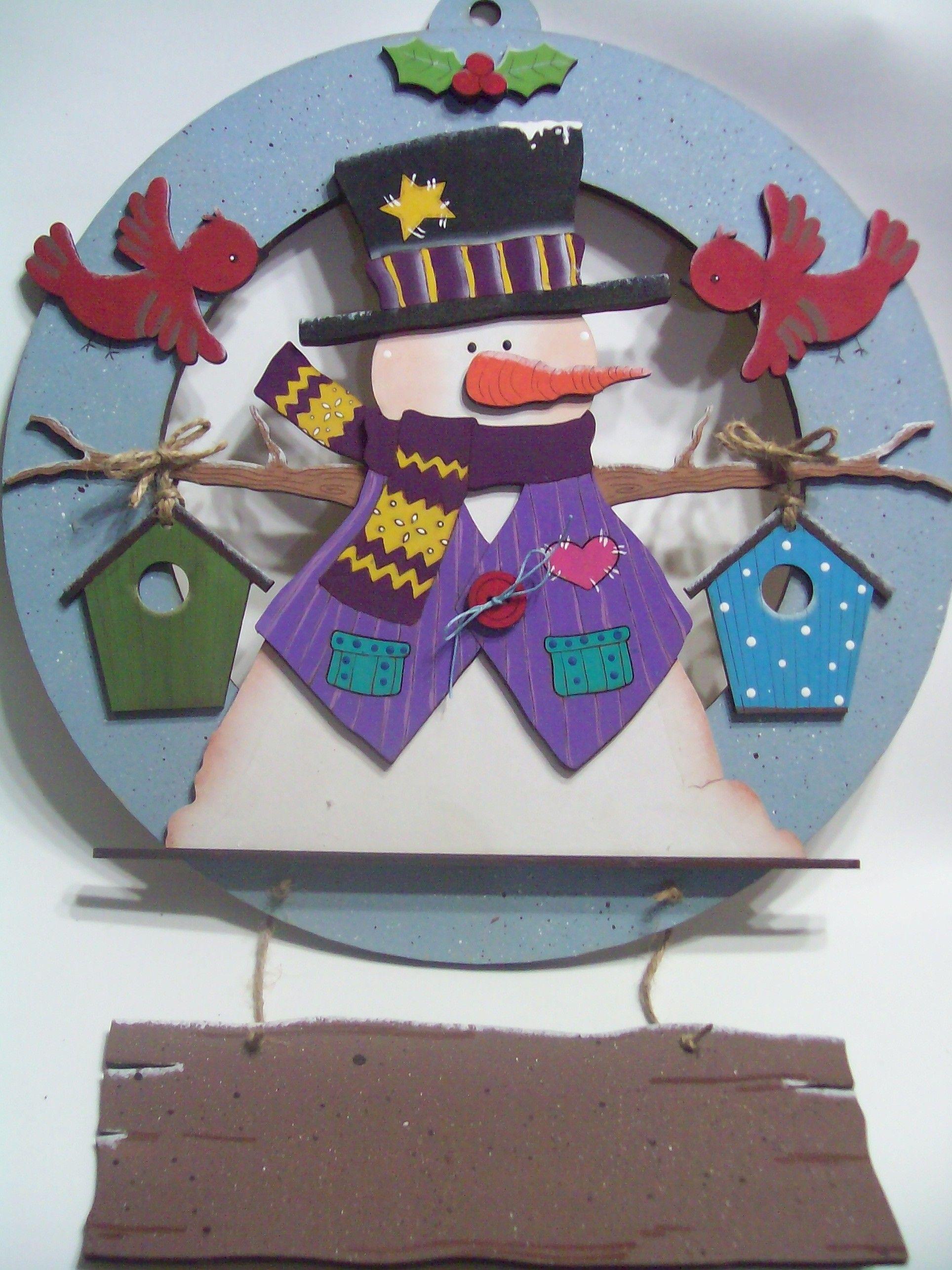 Corona de navidad madera l se el letrero se personaliza for Coronas de navidad