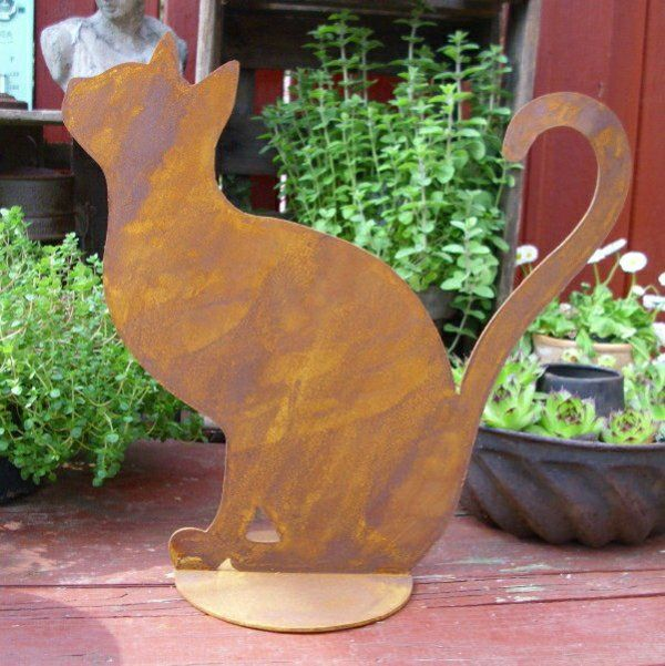 décoration jardin chat | bois | Pinterest
