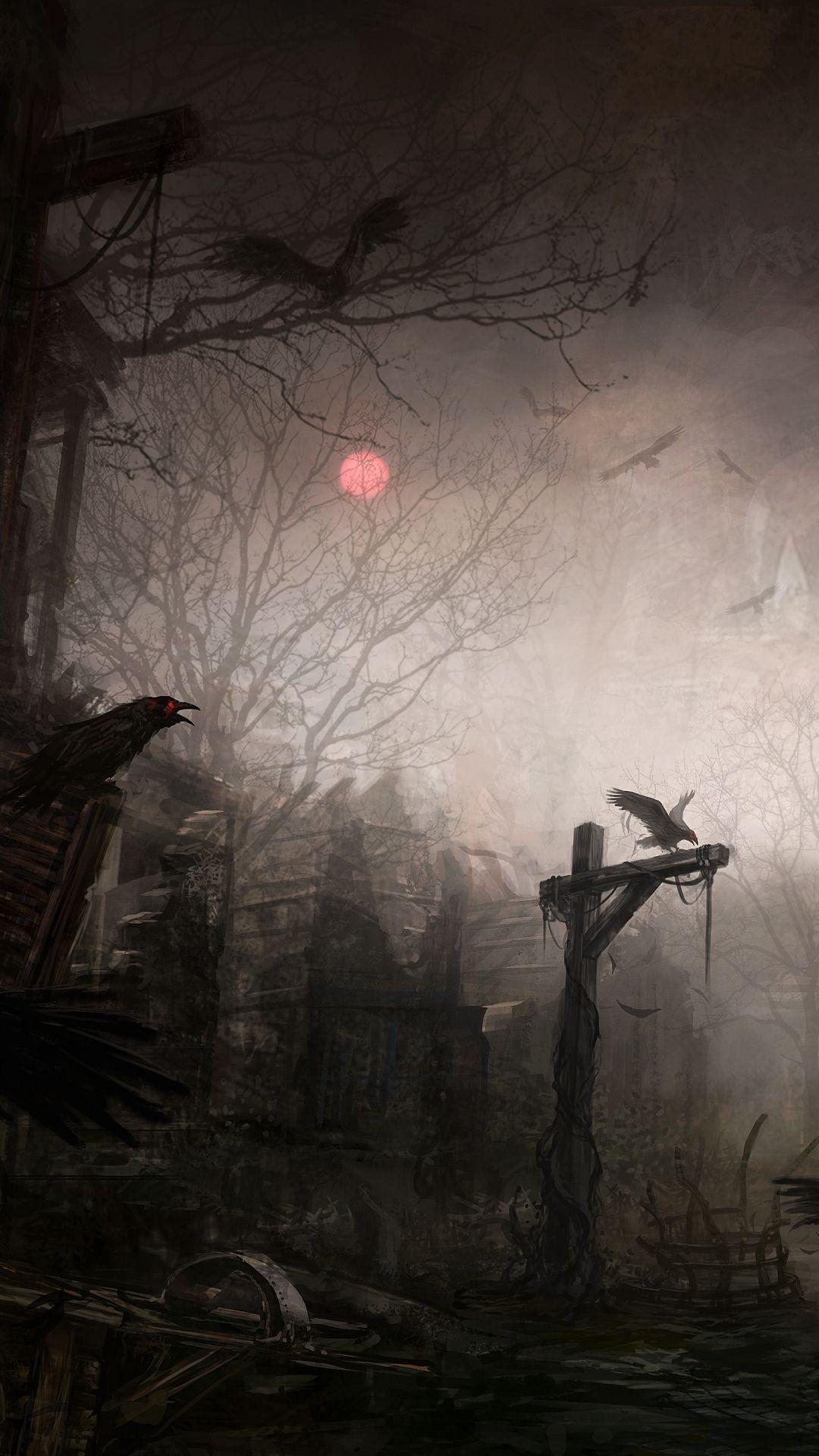 Video Game Diablo III Diablo Town Dark Gothic Raven Mobile