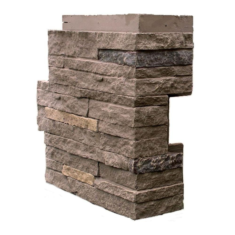 Nextstone Stacked Stone Walnut Brown 4 25 In X 13 75 In Faux Stone Siding Corner 4 Pack Sts Oc Wb 4 The Home Depot In 2020 Stone Siding Faux Stone Siding Faux Stone