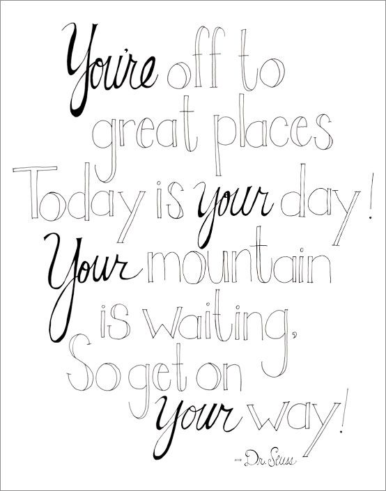 great places dr seuss quote Quote coloring pages