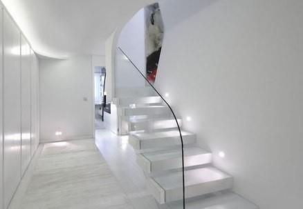 Cool Staircase Ideas In Futuristic Apartment Design And Remodel By A Cero  Architects