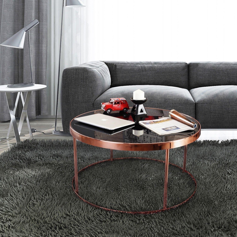 Furniture of America Rosina Contemporary Mirrored Black Rose Gold