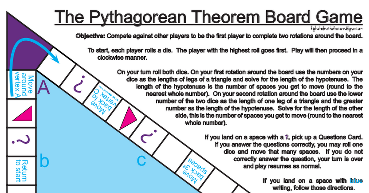 Pythagorean Threorem Board Game.pdf This is a fun way to