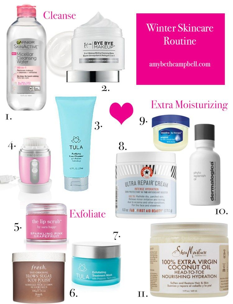 Winter Skincare Routine Tula Clairisonic First Aid Beauty Dermalogica Garner It Cosmetics Fr Winter Skin Care Winter Skin Care Routine Skin Care Regimen