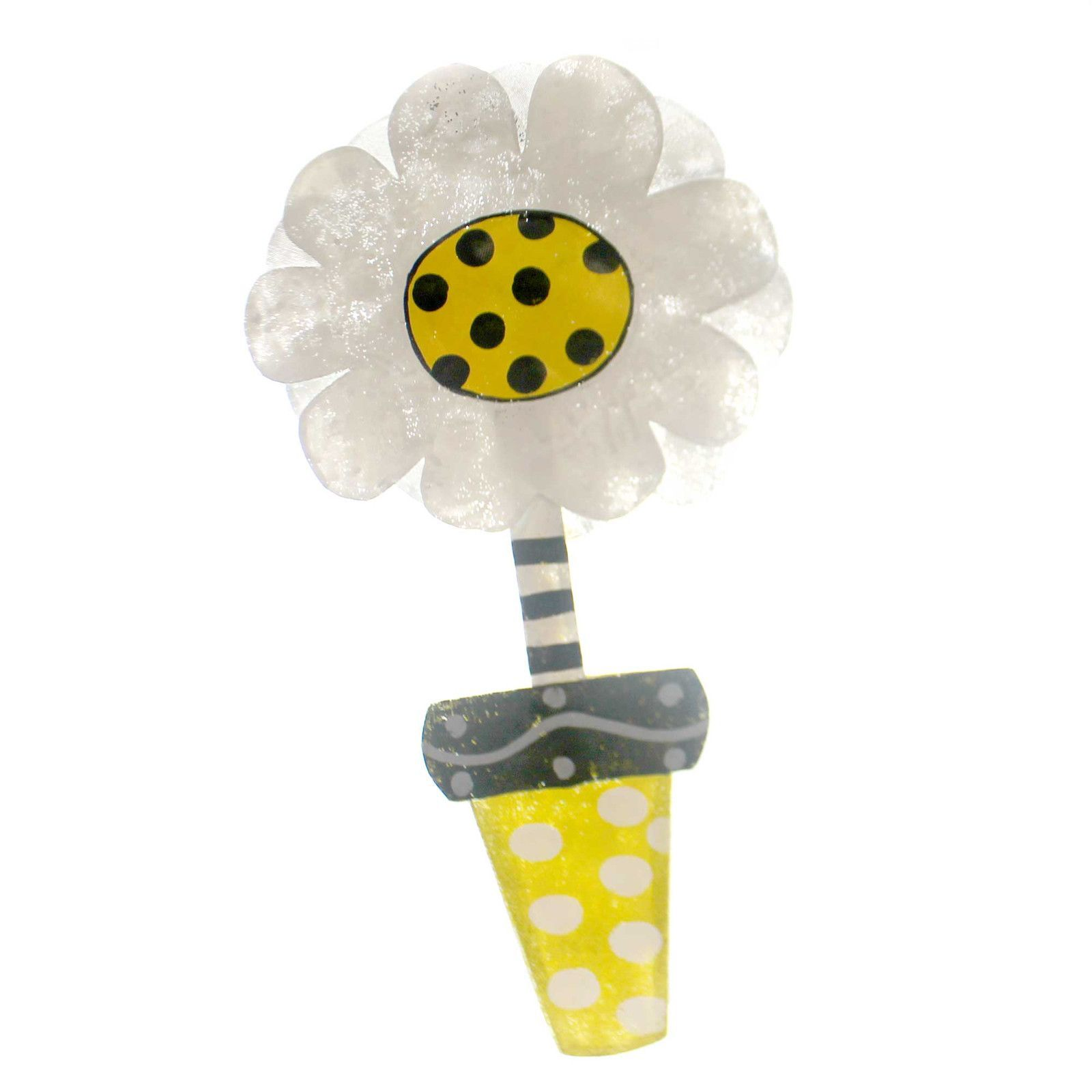 Peri Woltjer Daisy In Yellow Flower Pot Door Decor Christmas Store