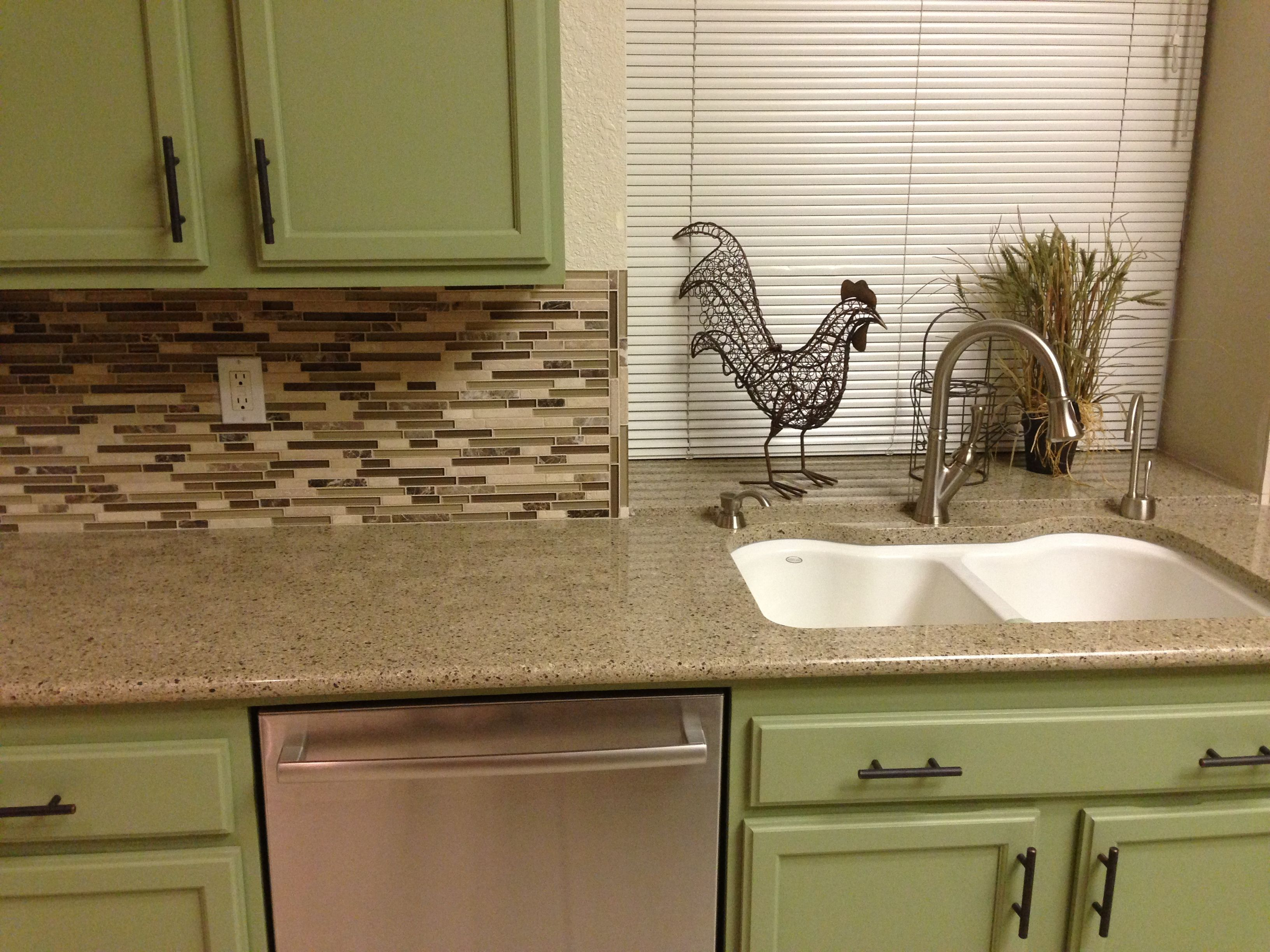 Diy Re Stained Oak Kitchen Makeover Cabinets I Used Behr