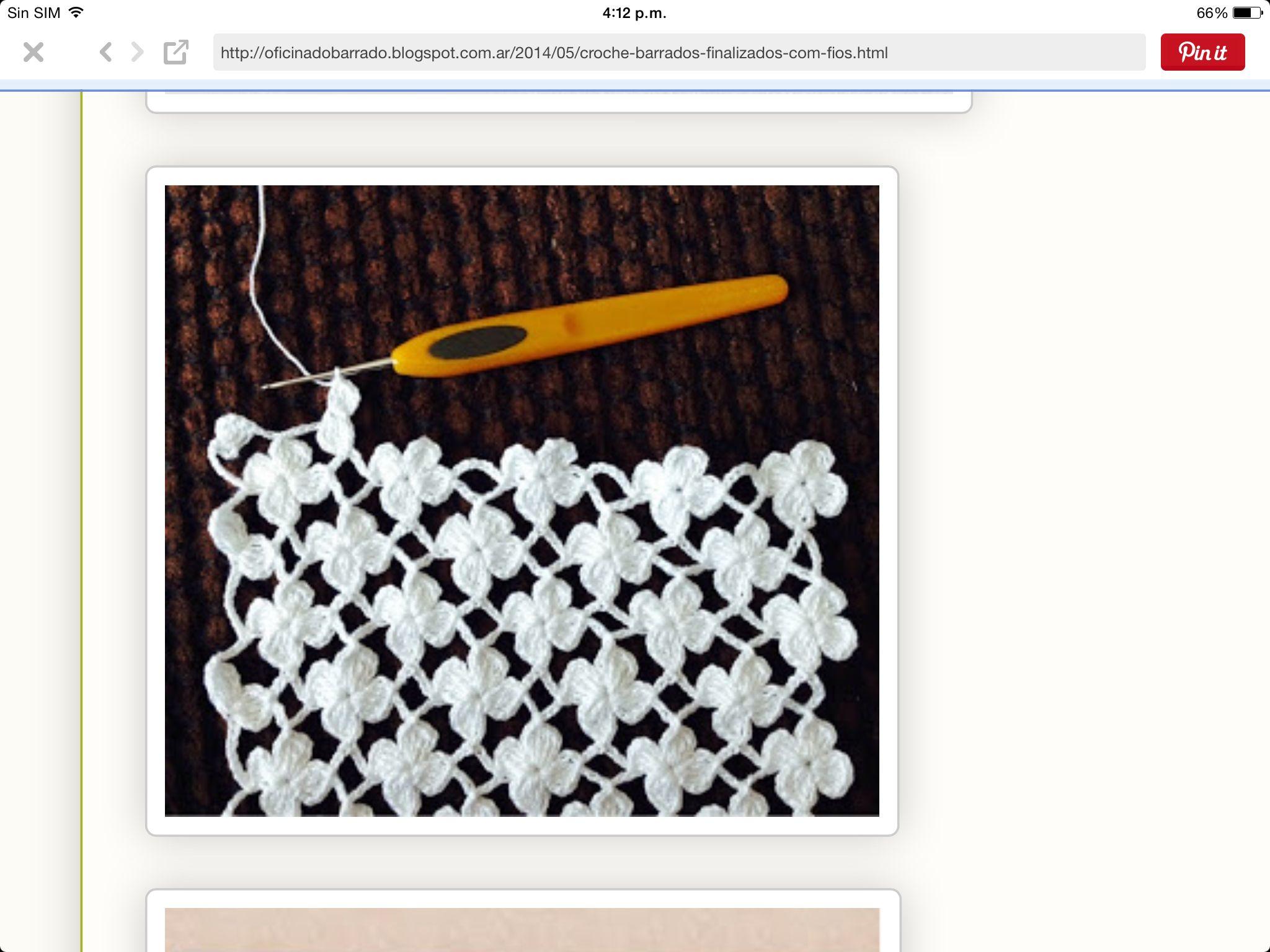 Muestra | Crochet | Pinterest | Ganchillo, Tejido y Puntos
