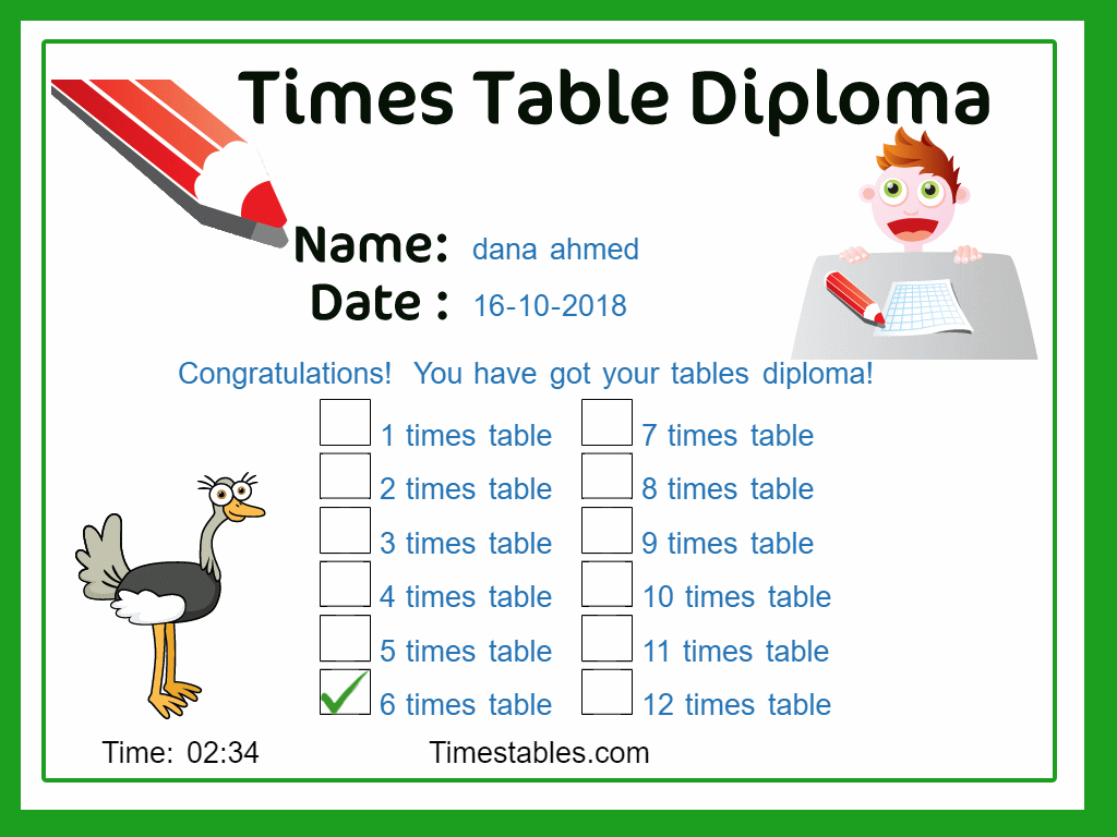 6 Times Table With Games At Timestables