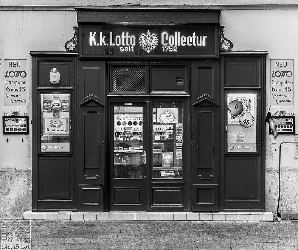 Wien Foto Alteste Lottoannahmestelle Osterreichs Stephansplatz