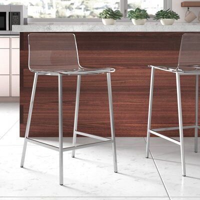 Outstanding Wade Logan Casserley 35 Counter Bar Stool Color Brushed Pabps2019 Chair Design Images Pabps2019Com