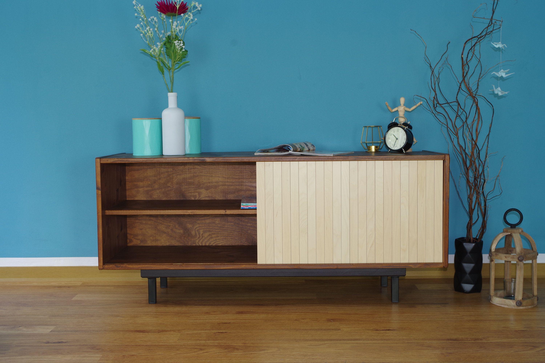 Retro Mid Century Tv Stand Tisch Schrank Lowboard Hifi Sideboard