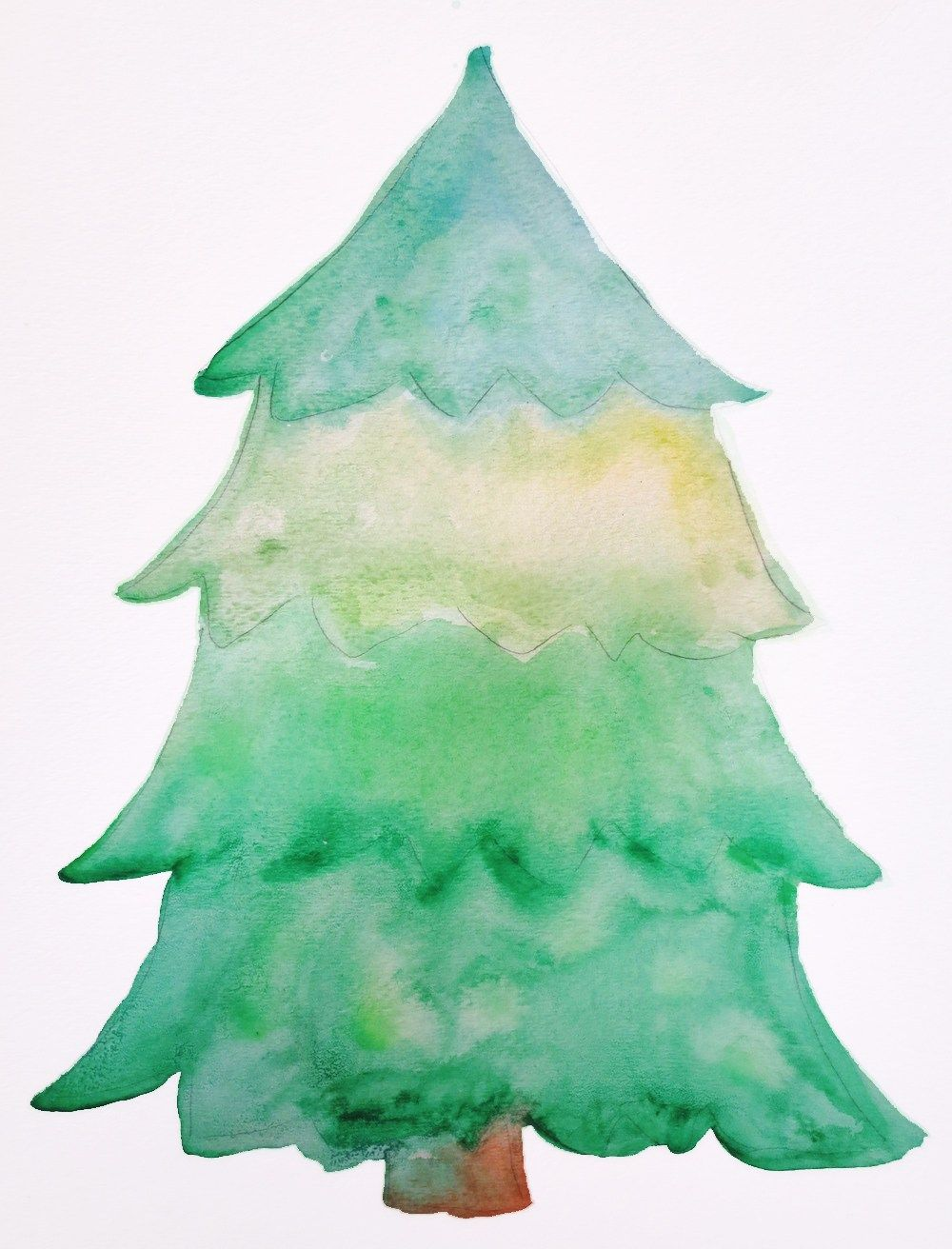 How To Make A Christmas Tree Collage Tree Collage Watercolor