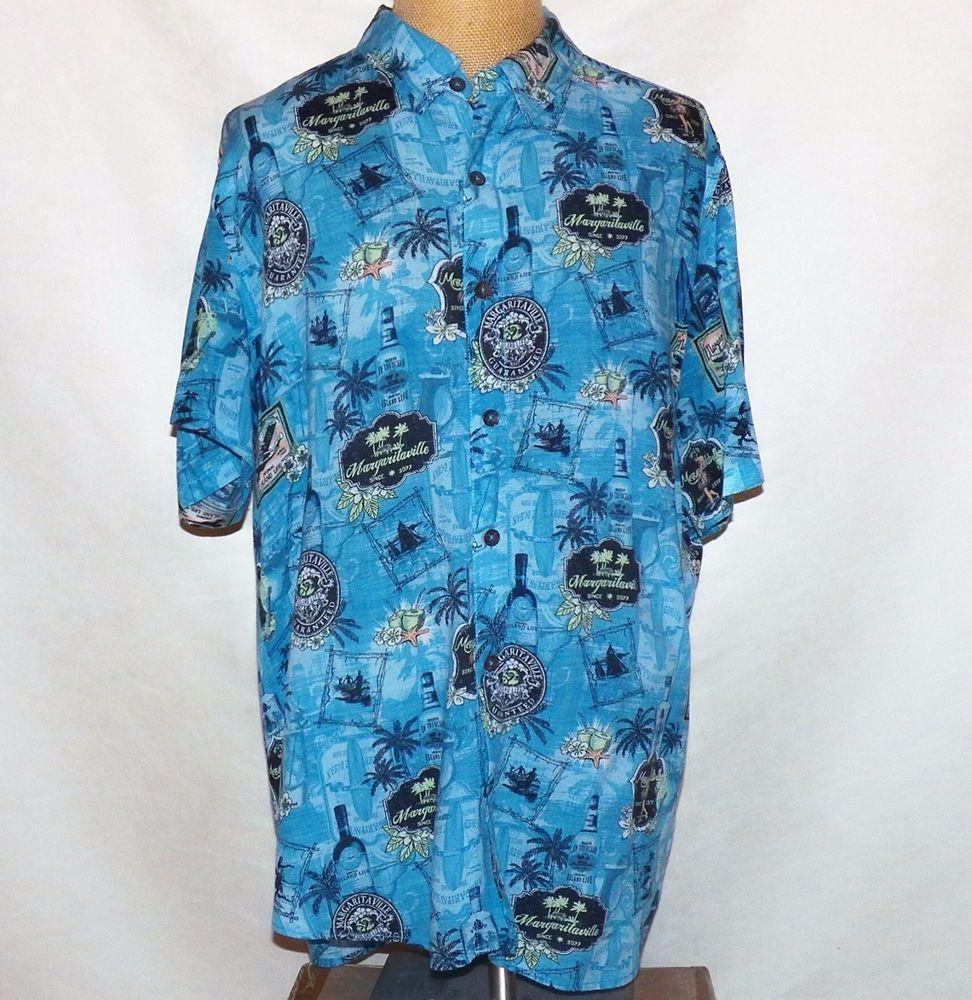df7003ac Jimmy Buffett Margaritaville Island Life Labels Blue BBQ Camp Hawaiian  Shirt XL #Margaritaville #Hawaiian