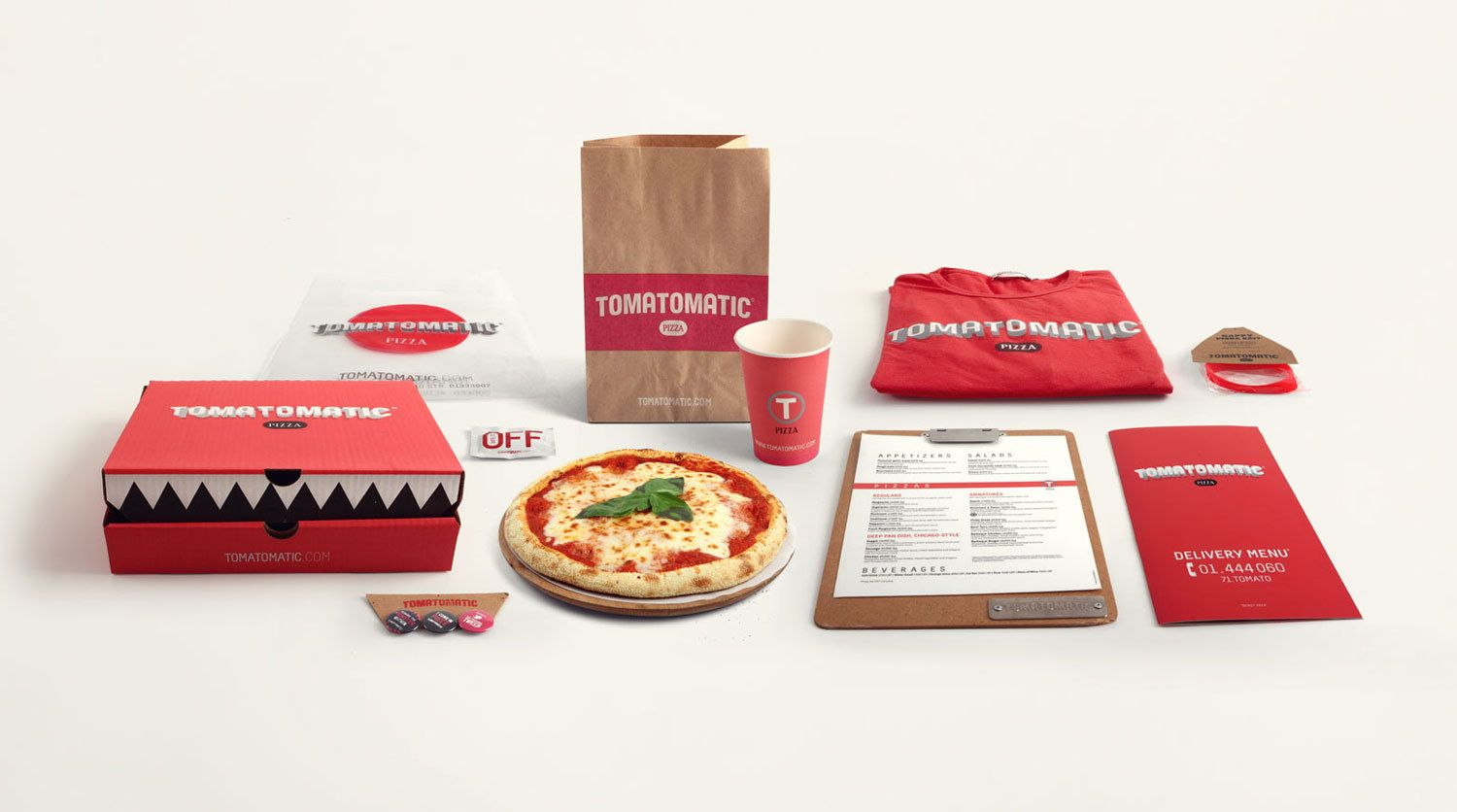 Arte Pizza Ferrara Menu Tomatomatic Pizza Restaurant Identity Packaging Branding Pd