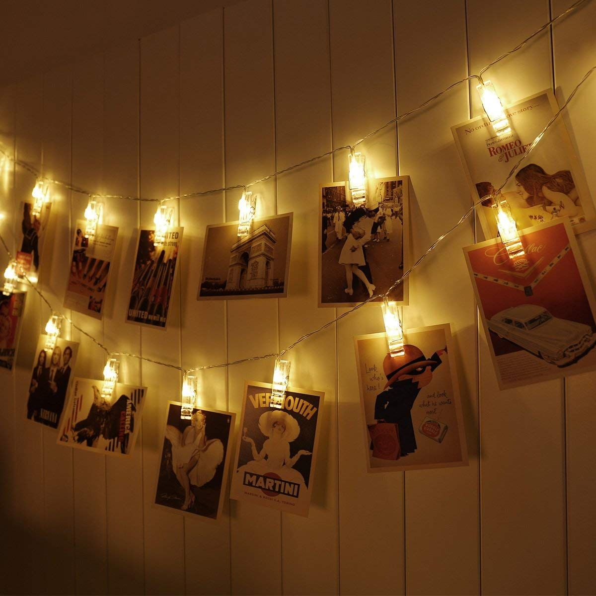 20 LEDs Photo Clips String Fairy Lights Battery Operated Hanging Pictures Cards
