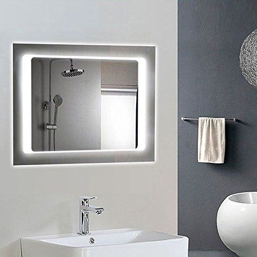 Decoraport Horizontal LED Bathroom Silvered Mirror Lighted Vanity Mirror  with On off Switch 32. Decoraport Horizontal LED Bathroom Silvered Mirror Lighted Vanity