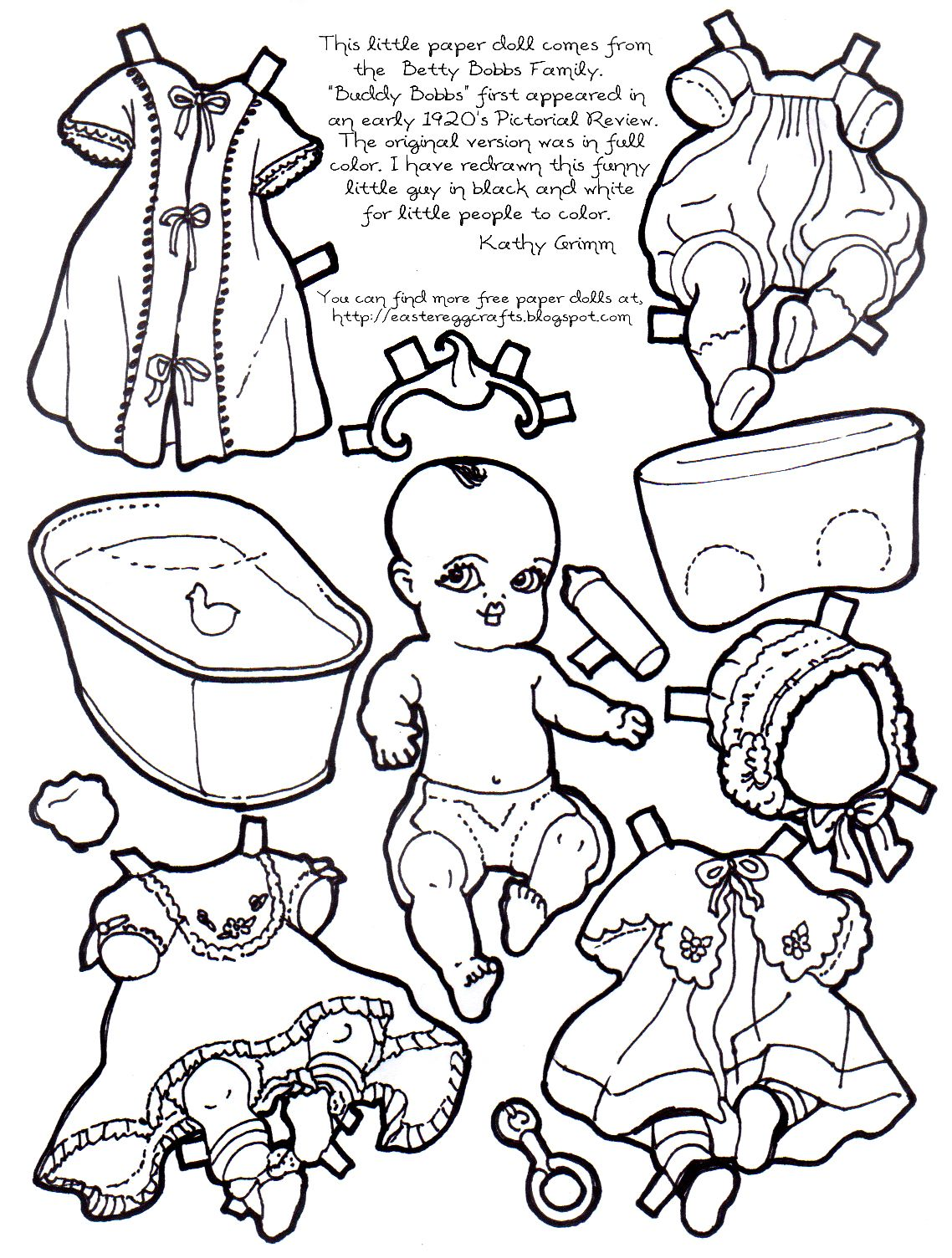 Free Paper Cutting Templates Paper Baby To Color And Cut Out