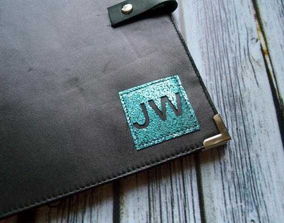 Personalized JW Leather Ministry organizer Tract Holder