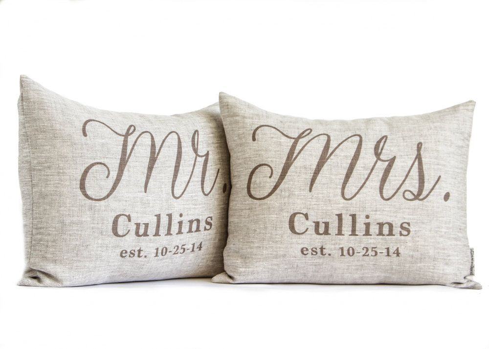 Linen Wedding Anniversary Gifts: Rustic Wedding Gift, 2nd Anniversary, Housewarming, Mr And