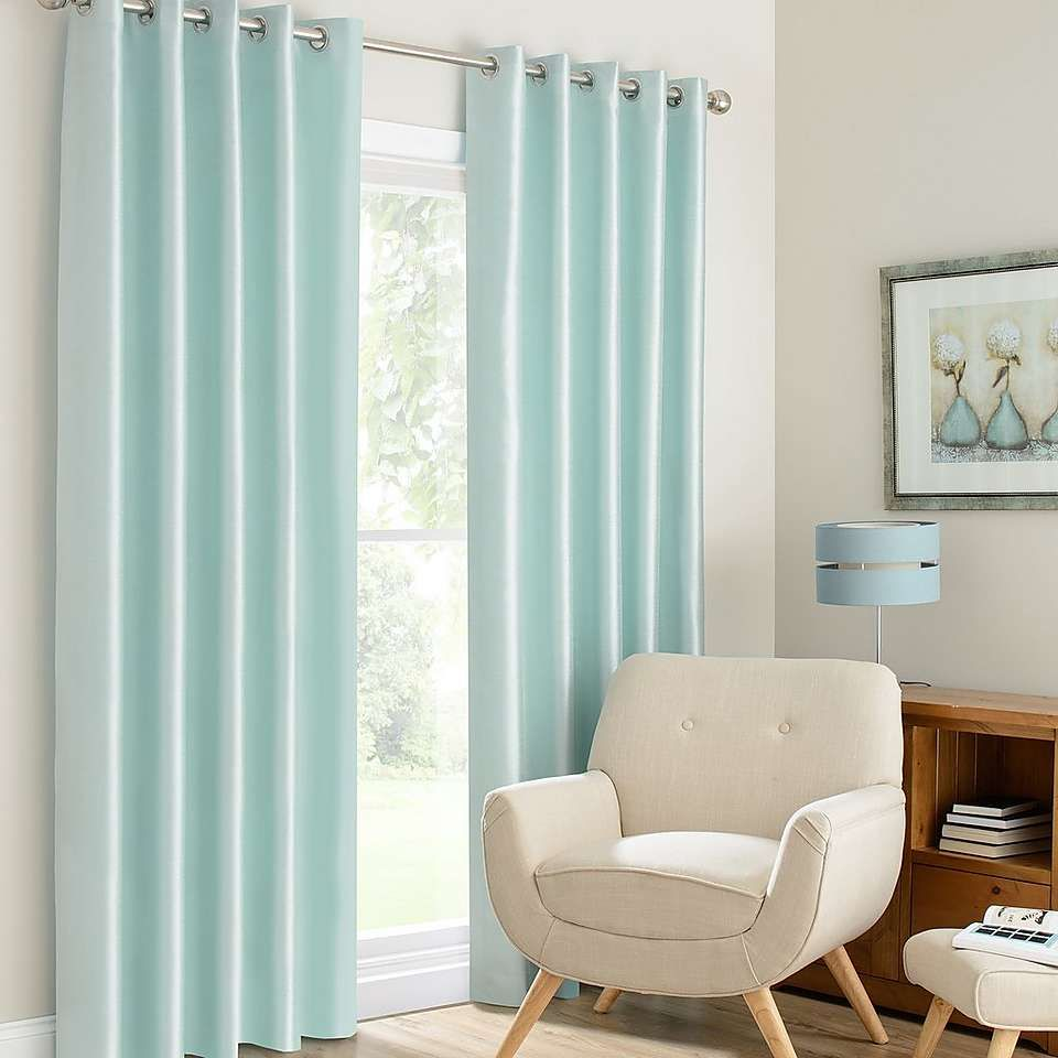 Montana Duck-Egg Lined Eyelet Curtains | Dunelm | House things ...