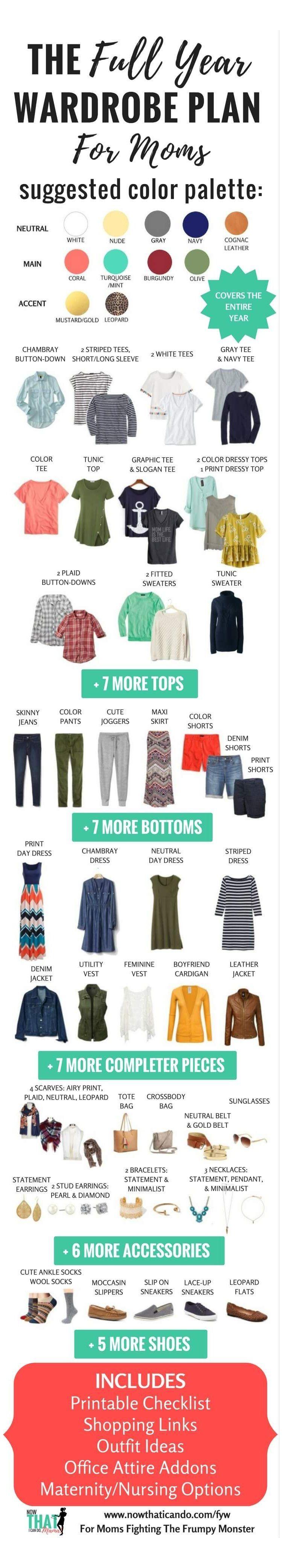 The Ultimate Mom Casual Capsule Wardrobe Plan (printable checklist) + How to Build a Wardrobe