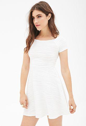 Textured Skater Dress   FOREVER21 2052397884   Dresses for