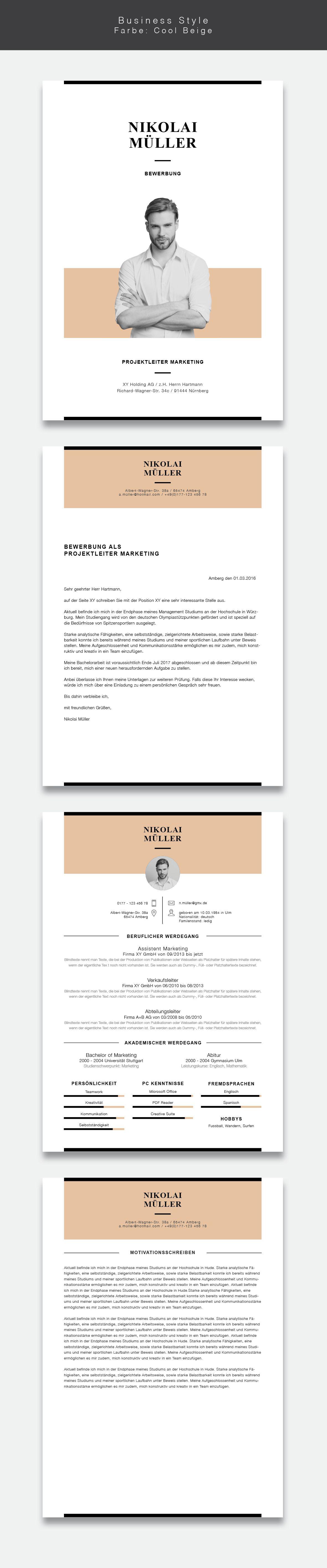 Unsere Neue Bewerbungsvorlage Cvtemplate Business