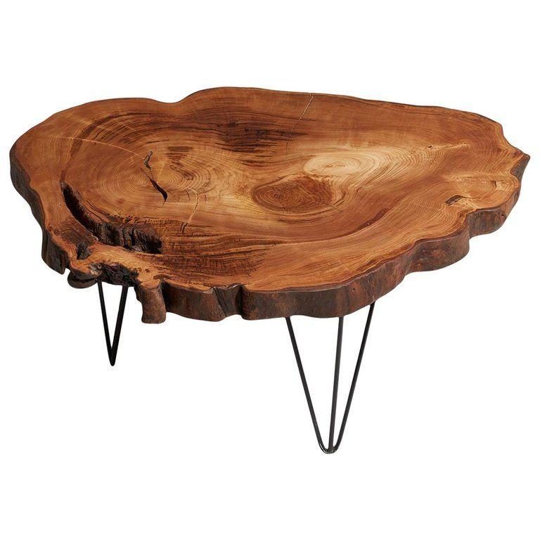 Chestnut Tree Live Edge Coffee Table Live Edge Table Rustic Edge