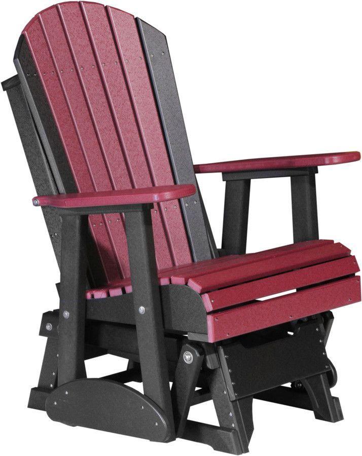 LuxCraft Recycled Plastic 2\' Adirondack Glider Chair | Banco rústico ...