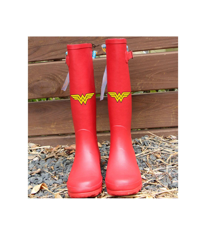 per comprare grandi affari 2017 prezzo più basso con Special Edition Red Wonder Woman Rain Boots with Logo Bows by ...