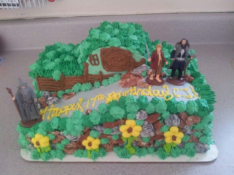 Hobbit cake for the big boy