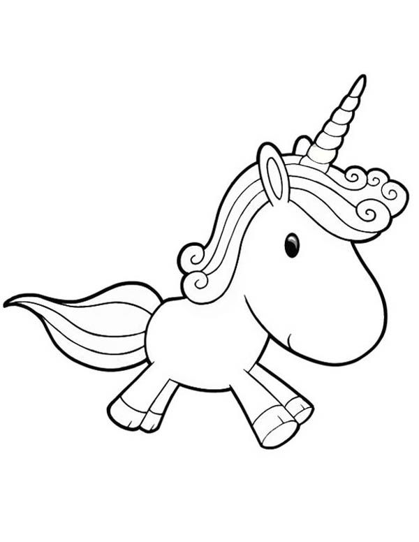 Unicorn A Lovely Unicorn Toy Doll For Girl Coloring Page