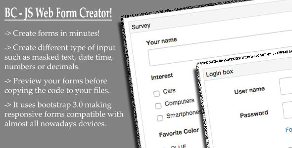 Bc Js Web Form Creator Forms Download App Bootstrap Creation