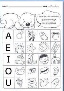 150 Atividades com vogais em letra bastão! - ESPAÇO EDUCAR | vogais ...