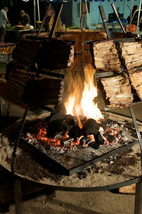 Pin by Ton Strang on What's on the Spit | Bbq pit, Argentina