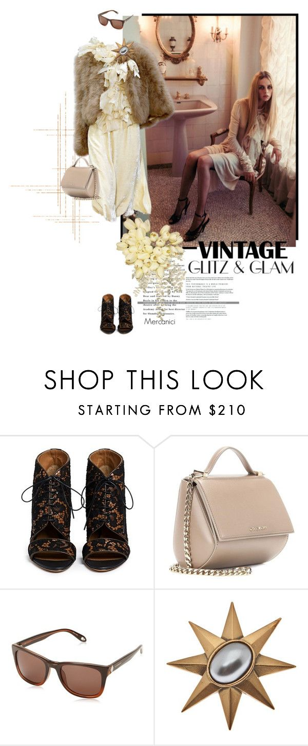 """""""'Vintage Glam Look' by Givenchy"""" by mercanici ❤ liked on Polyvore featuring Givenchy, Yves Saint Laurent and vintage"""