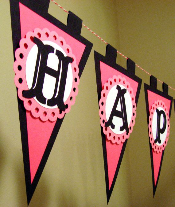 Pirate Girl Party Banner by AmysOccasions on Etsy, $29.99