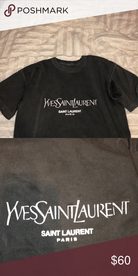 9c2f4c5db2c YSL Saint Laurent / coal n terry T shirt Coal n Terry YSL Saint Larent T-shirt  Small Saint Laurent Tops Tees - Short Sleeve