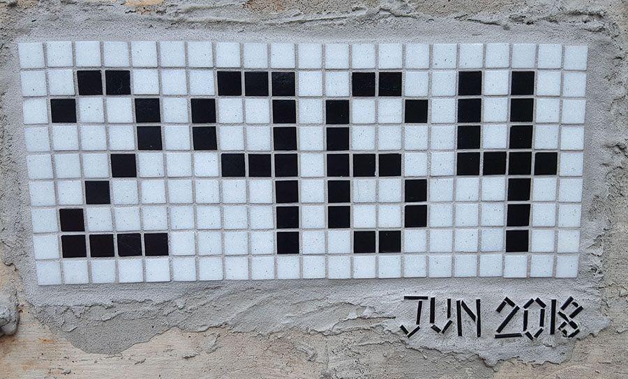 Mosaic Street Number Mosaic
