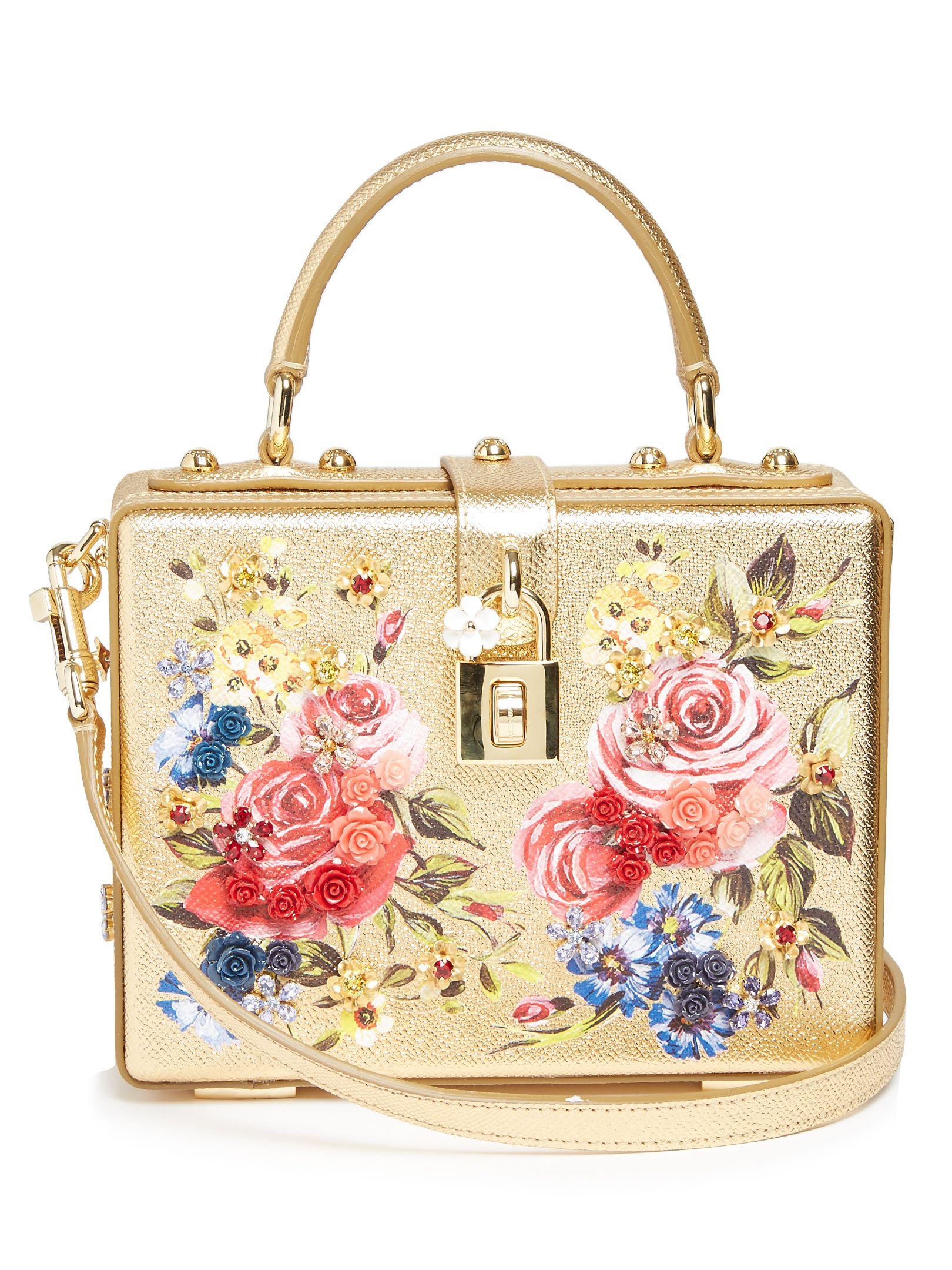 2faef5cf8f7 Dolce Soft rose-print leather box bag   Dolce & Gabbana   MATCHESFASHION.COM