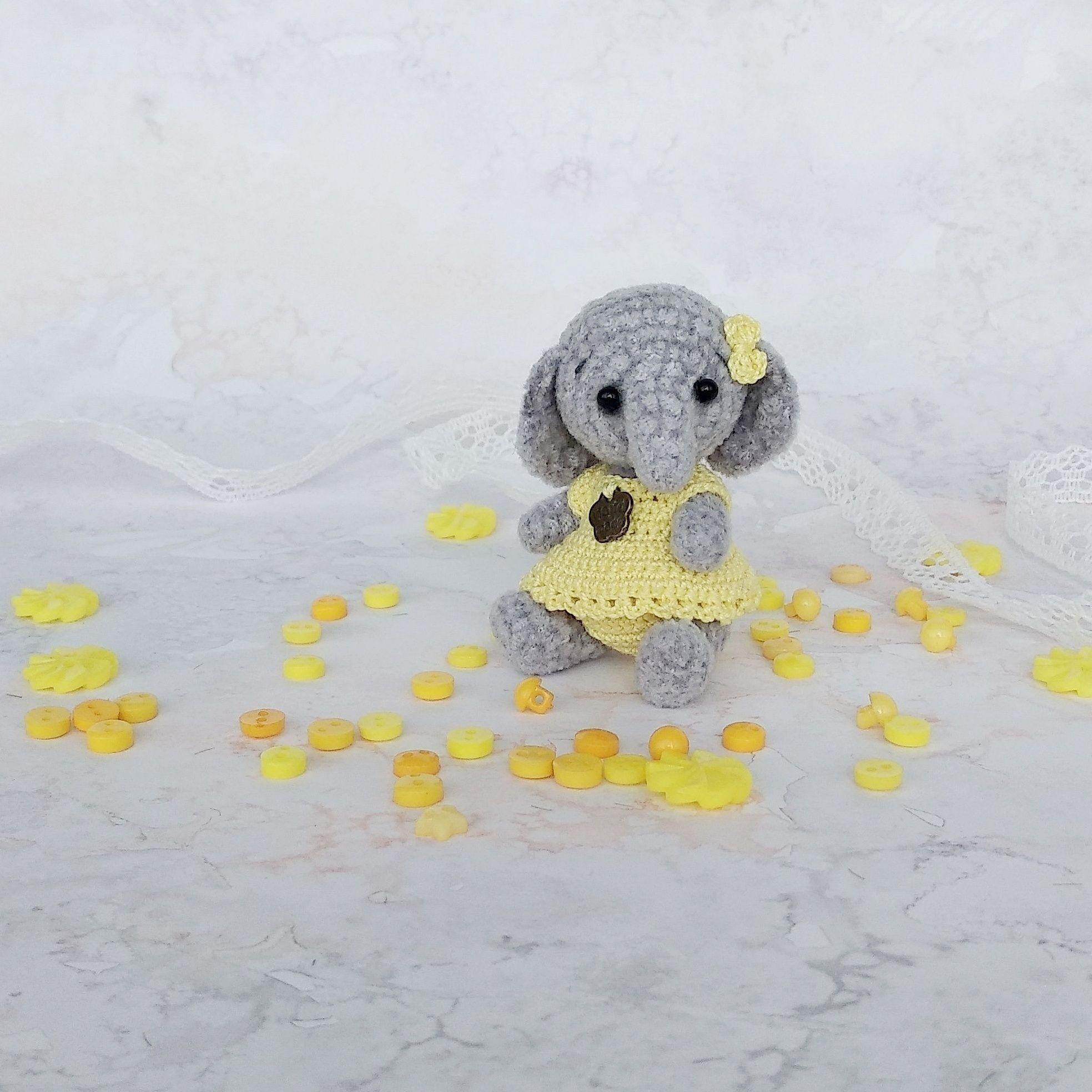 micro crochet baby elephant | Handmade Tutorial | 1967x1967