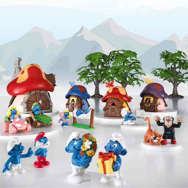 Smurf's...so popular in the 80's. My BIG Annette had so many glued to her dash and back window of her car. :)