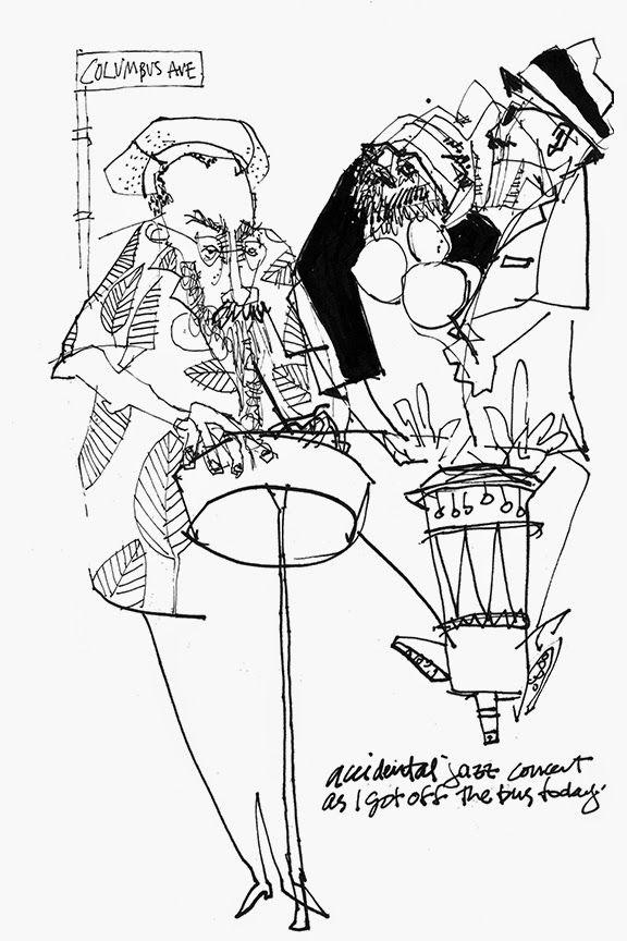 Melanie Reim, Happy Accident at Lincoln Center | Sketchbooks ...