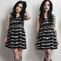 Bone Me Skater Dress by Iron Fist