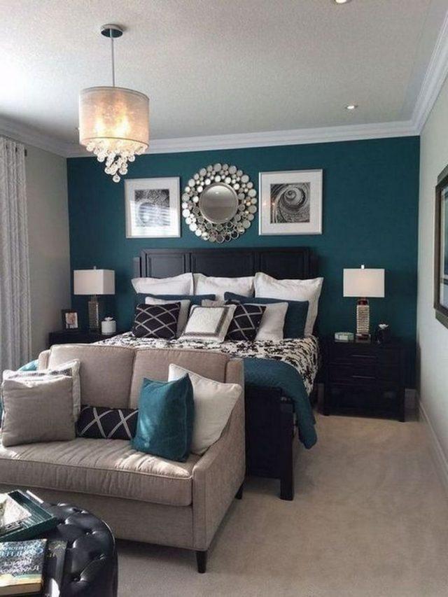 40+ Comfortable Apartment Bedroom Decor Ideas | Small ...