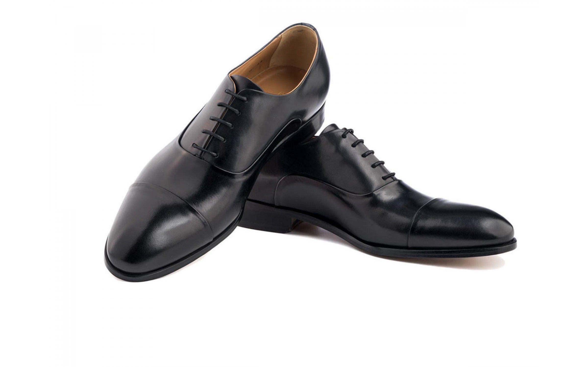 2d49c5b566974 Oxford Cap Toe Dress Shoe in Black Antique Italian Leather Oxford Shoes