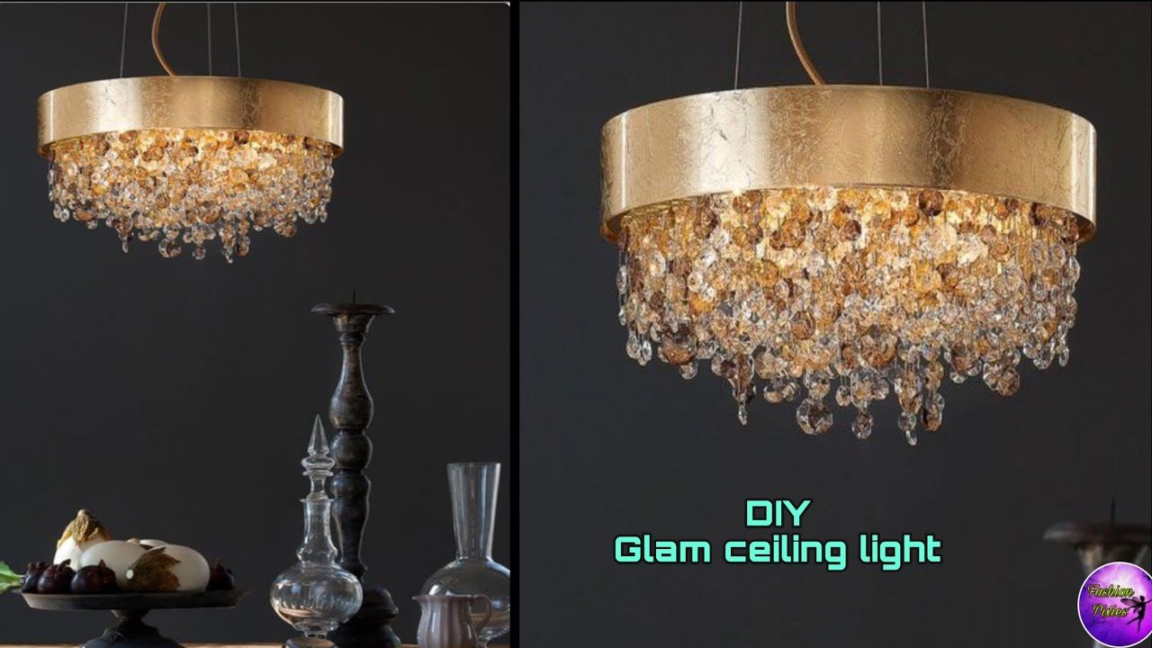 Diy Gold Chandelier On A Budget Art And Craft Diy Crafts Fashion Pixies Youtube In 2020 Gold Diy Budget Art Gold Chandelier