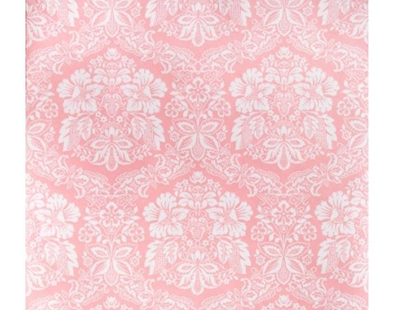 1970s French Dreamy Pink Wallpaper Vintage By DaisiesInTheAttic