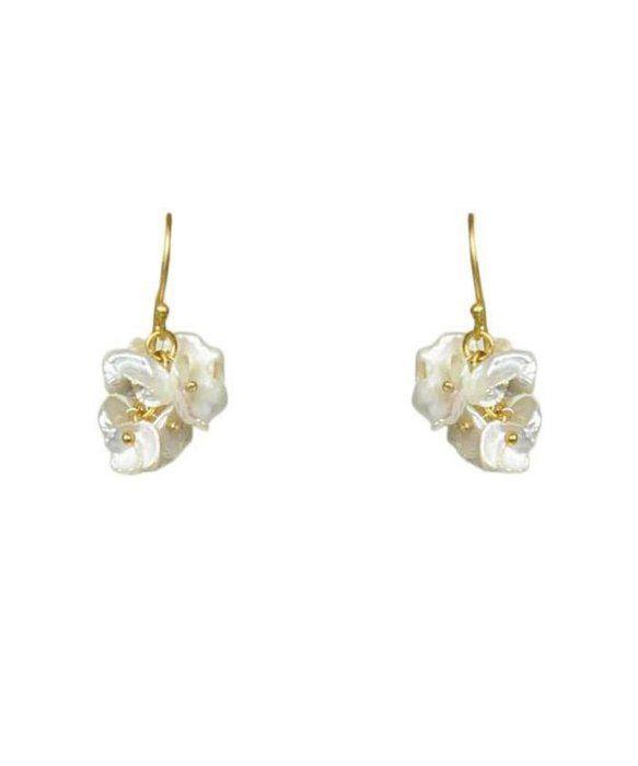 Gena Myint Keshi Pearl Cluster Earrings